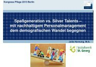 Hornung, Julia: Spaßgeneration vs. Silver Talents - Heilberufe