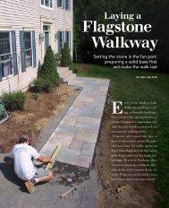 Laying a Flagstone Walkway - Fine Homebuilding