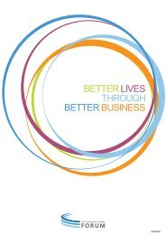 die strategischen pfeiler & aktivitäten des forums - Consumer Goods ...