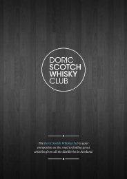 Download Membership Pack - Doric Scotch Whisky Club