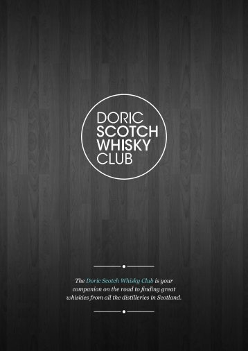 Download Membership Pack - Doric Scotch Whisky Club