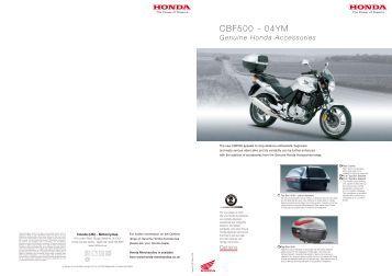 CBF500 - 04YM - Doble Motorcycles