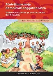 Muistiinpanoja Demokratiaoppitunnista (pdf) - Nuorisotutkimusseura