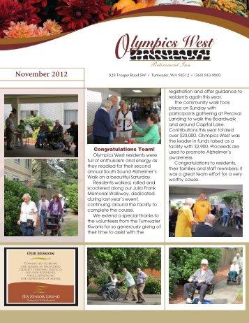 Retirement Inn November 2012 - JEA Senior Living