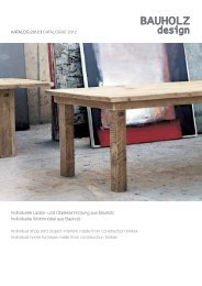 Individuelle Laden - Bauholz design a.r.t.