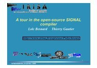 A tour in the open-source SIGNAL compiler A tour in the open ...
