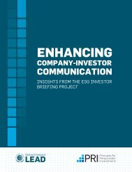 ENHANCING - Principles for Responsible Investment