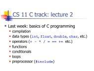 CS 11 C track: lecture 2