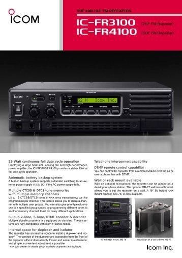 Icom IC-FR3100/FR4100 - RadCom