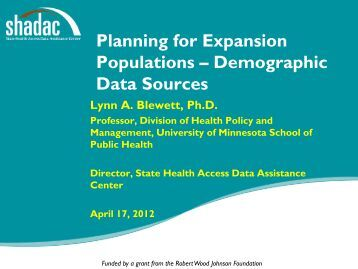 Download a PDF version of the slides here - State Health Access ...