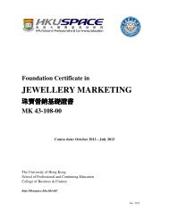 jewellery marketing - HKU School of Professional and Continuing ...