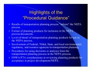 "Highlights of the ""Procedural Guidance"""