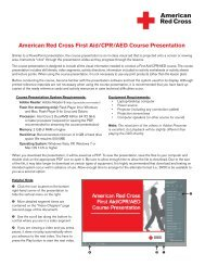 American Red Cross First Aid/CPR/AED Course ... - Instructor's Corner