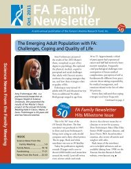 FA Family Newsletter - Fanconi Anemia Research Fund