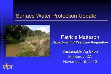 Surface Water Protection Update