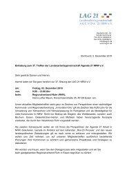 schriftliche Einladungen - Landesarbeitsgemeinschaft Agenda 21 ...