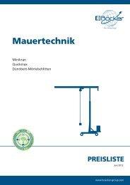 Mauertechnik - Albert Böcker GmbH & Co. KG