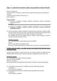 Zápis z 5. jednání Kontrolního výboru Zastupitelstva města Chrudim