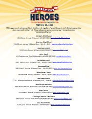 Military personnel, veterans and their families are being ... - Wildwood