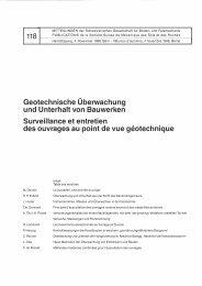 Geotechnische Überwachung und Unterhalt von ... - SGBF-SSMSR