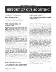 History of Cub Scouting - Cub Scout Pack 883