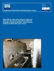 FLUID ENDS - COVER - Weir Oil & Gas Division
