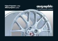 Felgen-Programm (1-teilig) Wheel program (1-piece) - Cargraphic