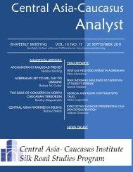 No. 17, September 21 issue - Central Asia-Caucasus Institute and ...