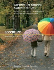 Attracting and Retaining Customers for Life - Accenture Insurance Blog