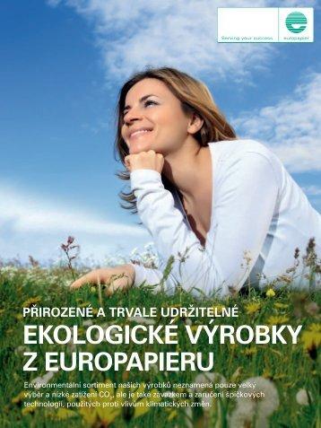 Přirozené a trvale udržitelné ekologické výrobky z euroPaPieru