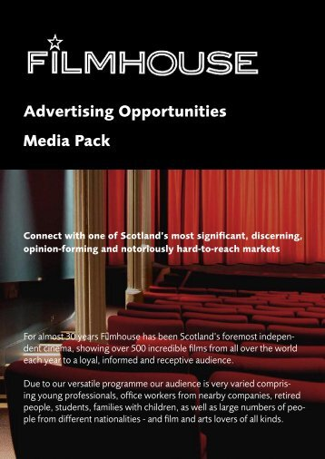 Advertising Opportunities Media Pack - Filmhouse Cinema Edinburgh