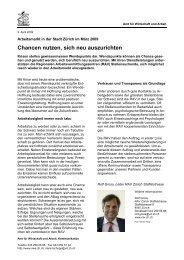 Stadt Zürich April 2009 (PDF, 36 kB) - Amt für Wirtschaft und Arbeit