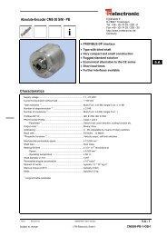 Absolute-Encoder CMS 58 S/M - PB - TR Electronic
