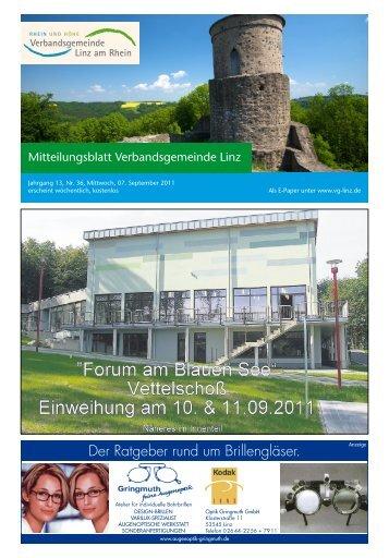 Ausgabe Nr. 36 vom 07.09.2011 - Verbandsgemeindeverwaltung ...