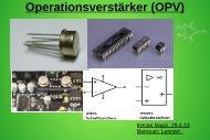 Operationsverstärker (OPV) - Projektlabor