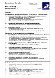Biologie GK/LK Jahrgangsstufe 12 - Apostelgymnasium