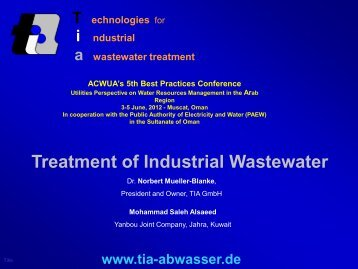 Treatment of Industrial Wastewater - ACWUA