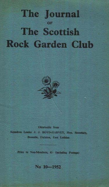 the Scottish Rock Garden Club