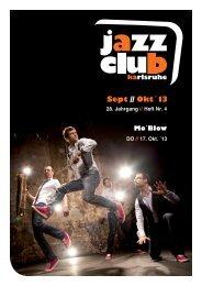 Programm September/Oktober 2013 - Jazzclub Karlsruhe eV