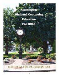 the brochure. - Southington Public Schools