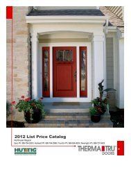 Therma-Tru 2012-13 Price Guides - Huttig Building Products