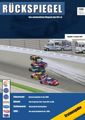 Erstausgabe - Virtual Racing eV