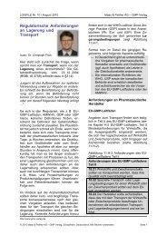 Regulatorische Anforderungen an Lagerung und Transport