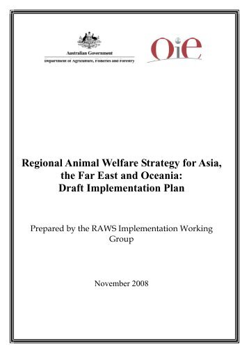 Regional Animal Welfare Strategy for Asia, the Far ... - OIE Asia-Pacific