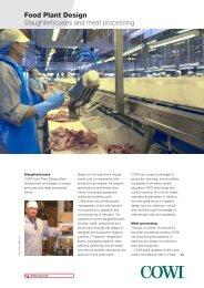 Food Plant Design Slaughterhouses and meat processing - Cowi