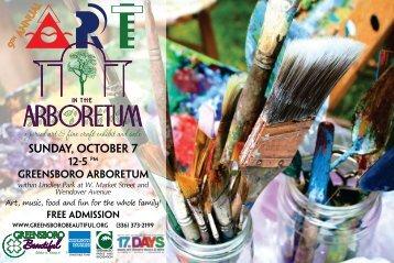 a juried art & fine craft exhibit and sale - Greensboro Beautiful