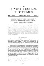 quarterly journal of economics - World Management Survey