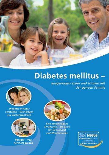 Diabetes mellitus – - Nestle Ernährungsstudio
