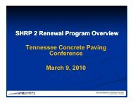 SHRP 2 Renewal Projects Research Overview
