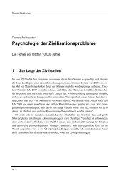 Psychologie der Zivilisationsprobleme